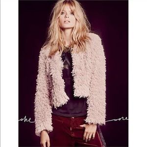 Free People Anita Furry Jacket (Reversible)